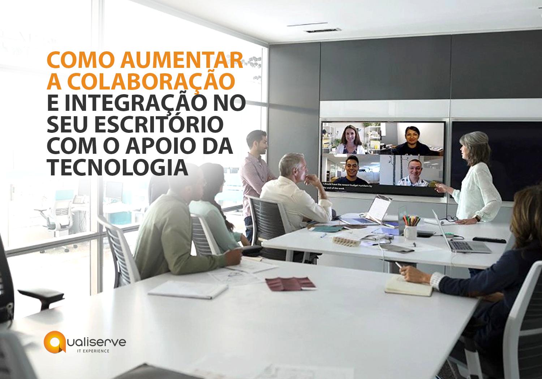 Ambiente de um escritório de advocacia usufruindo de ferramentas colaborativas, como o Microsoft 365